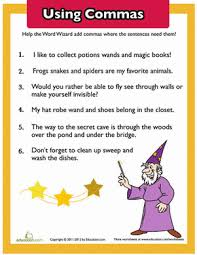 using commas worksheets free worksheets library download and