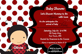 ladybug baby shower invitations theruntime com