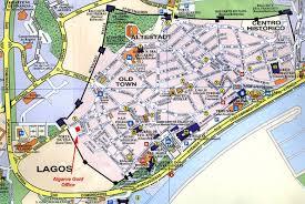 lagos city map maps of lagos algarve