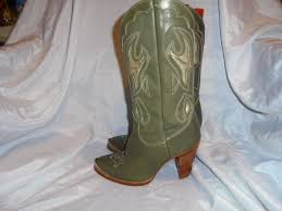 cowboy boots uk leather zodiac s olive leather cowboy boot size uk 3 5 eu