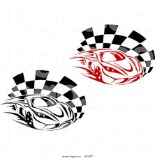 car logo black and white royalty free black and red race car logos by vector tradition sm