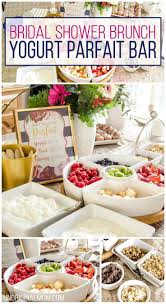 bridal shower brunches bridal shower brunch yogurt parfait bar yogurt parfait bar baby