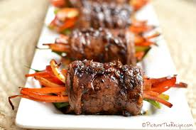 Easy Dinner Party Main Dishes - balsamic glazed steak rolls picture the recipe
