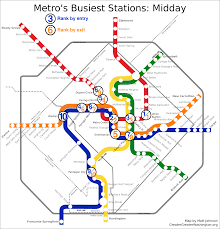 Smithsonian Map Which Metro Stations Are Busiest U2013 Greater Greater Washington