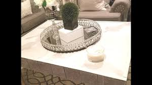 Glam Coffee Table by Diy Glam Marble Coffee Table No Contact Paper Youtube