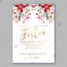 christmas brunch invitations poinsettia fir pine brunch winter floral wedding invitation