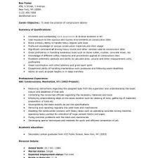 labor resume sample general labor construction contemporary cover