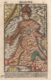 Ancient Map Of Africa by