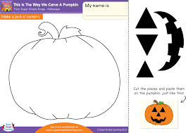 this is the way we carve a pumpkin worksheet u2013 make a jack o
