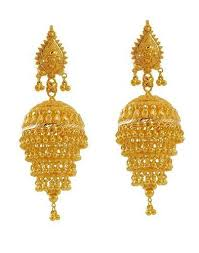 gold jhumka earrings gold jhumka earring view specifications details of gold