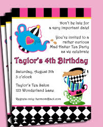 mad hatter tea party invitations u2013 unitedarmy info