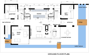 modern house plan pool u2013 modern house