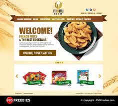 website templates free download psd restaurant menu free psd template psdfreebies com