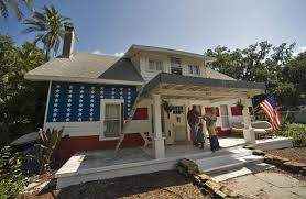 florida man paints american flag on house in protest nbc news