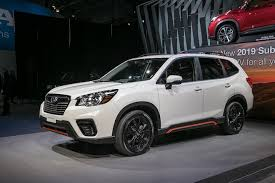 subaru forester 2019 subaru forester first look ready for the cr v and rav4 motor
