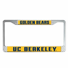 uc berkeley alumni license plate cal bears roadster license plate frame