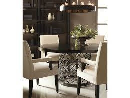 Leaders Furniture Port Charlotte by Bernhardt Hallam Modern Metal Dining Table With Wood Top 54