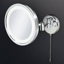 magnification mirror with light hib halo led illuminated round magnifying bathroom mirror multi