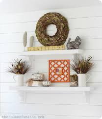 thanksgiving shelf decor 2012 creative fall ideas linky