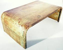 vintage industrial sheet metal coffee table for sale at pamono