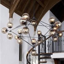 Vintage Glass Chandelier Buy Light House Retro Designer Beanstalk Dna Molecule Bubble Glass