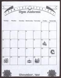 blank calendar for november 1991 the portal to history