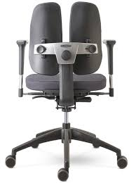 chaise de bureau mal de dos siege de bureau ergonomique avec dossier divisé ergoduo