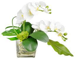 Artificial Flower Arrangement In Vase Phalaenopsis Orchid Arrangement In Vase Asian Artificial
