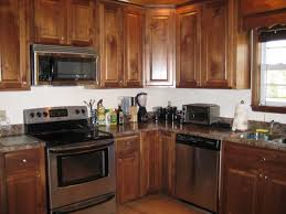 kitchen cute natural walnut kitchen cabinets white island 2