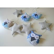 guirlande chambre enfant guirlande avec des hiboux et étoiles pour chambre bébé et enfant