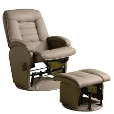 coaster recliners with ottomans glider chair with ottoman in tan