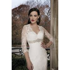 alluring vintage long sleeves v neck lace wedding dress star