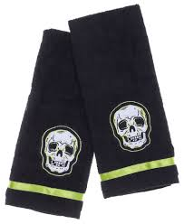 Skull Bathroom Accessories by Skull Hand Towel Bathroom Set By Sourpuss
