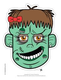 free printable zombie images this female zombie mask features a scary female zombie with facial