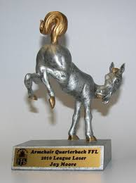 Armchair Quarterback Trophy Loser Awards