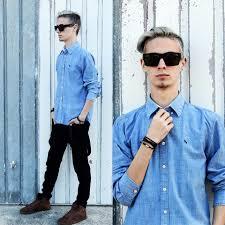 men in trendy h u0026m jeans shirt bershka black jeans pull u0026 bear