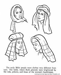 bible women coloring pages