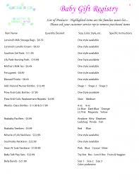 bridal registry ideas list breathtaking baby shower gift registry list ideas bridal gifts