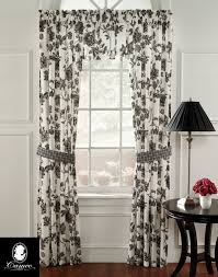 Toile Cafe Curtains How Black And White Toile Kitchen Curtains Is Going To