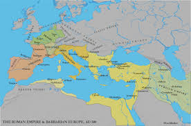 East Empire Shipping Map Western Europe And Byzantium C 500 1000 Ce