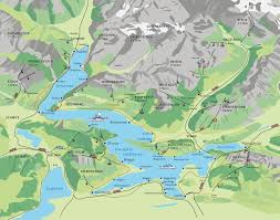 Swiss Alps Map Map Lake Lucerne
