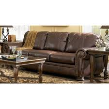 Ashley Furniture Leather Sofa by Ashley Furniture Leather Sofas Palmer Walnut Leather Sofa