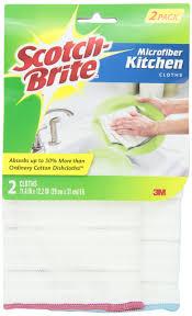 scotch green and white stripe dish towel kitchen towels amazon com scotch brite kitchen microfiber cloth 2 ea hugues