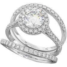 bridal ring sets cut bridal engagement ring set sterling silver wedding