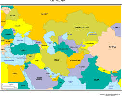 asia map with countries of continent clickable to asian and