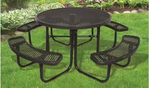supersaver commercial round picnic table thebenchfactory