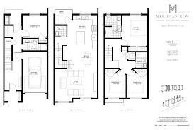 floor plan survey meridian row townhomes