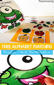 feed the monster alphabet puzzles totschooling toddler