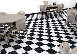 Checkerboard Vinyl Flooring Roll by Armstrong Classic Black And White Checkerboard Pattern Vct