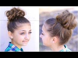 updos cute girls hairstyles youtube how to style a high messy bun for girl athletes hairstyle youtube